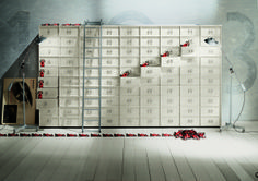 Buy online Toolbox By emmebi, composable unit with drawers and doors design Pietro Arosio Drawer Unit, White Space, Letters And Numbers, Door Design, Vintage Industrial, Home Collections, Tool Box, Storage Spaces, Drawers