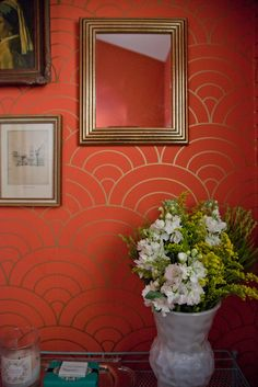 scalloped wallpaper