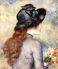 Pierre-Auguste Renoir - Girl with tulips