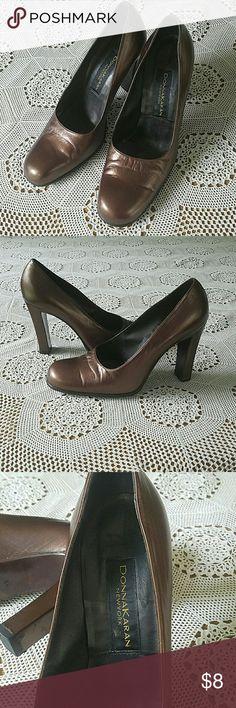 Vintage Donna Karan Shoes size 8 1/2 Nice vintage condition. Some scratches on heels. Donna Karan Shoes Heels