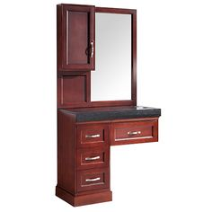 Dark Cherry #Salon #Styling #Station for sale by #KellerIntenrational. View this beautiful piece of hardwood & upgrade your #beauty shop today! Discounts available.