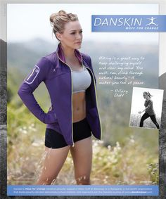 Hilary Duff goes hiking for Danskin campaign