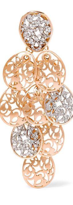 POMELLATO Arabesque 18-karat rose gold earrings