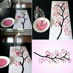 Great idea use a bottle for flowers!  I am trying this on a lampshade!