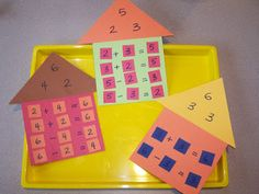 Fact Family Houses - this helped my sons learn their basic math facts much better!