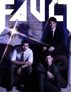 The Jonas Brothers seksify the Men's section cover of the Fall 2013 issue of FAULT.