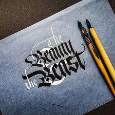 The Beauty & the Beast. .  .  .  #calligrafia #handmade #handmadefont #handlettering #typespire #calligraphy #calligraphymasters #typography #goodtype #strengthinletters #artoftype #thedailytype #typematters #typegang #typographyinspired #lettering #script #sachinspiration #designspiration