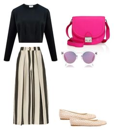 """Sem título #283"" by izabella-braga on Polyvore featuring moda, Etienne Deroeux, Bottega Veneta, Loeffler Randall e Sunday Somewhere"