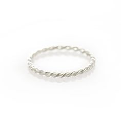 A thin twisted sterling silver ring. Please check our info page for more details on ring sizes. Dainty Jewelry, Silver Jewelry, Rings Online, Stacking Rings, Sterling Silver Rings, Jewelery, Fashion Jewelry, Planning Board, Ring Sizes