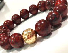 FSU Garnet and Gold Bead Bracelet