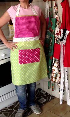 Green & pink apron :)