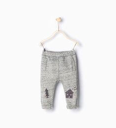 House and fir tree trousers-Trousers-Baby boy-Baby | 3 months - 3 years-KIDS | ZARA United States