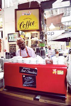 Omnomnom... Coffee Barista Man at the Hout Bay Market http://nadia-akester.blogspot.com/