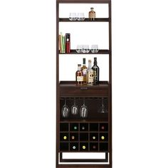 *MINE* Sloane Java Wine Bar in Bar Cabinets & Bar Carts | Crate and Barrel
