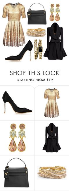 """Rose Gold Wednesday"" by acaguiar on Polyvore featuring Sophia Webster, Matthew Williamson, Valentino, Torrid and Chanel"