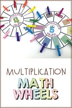 Help your students learn their multiplication facts with these engaging multiplication wheels! These wheels are the perfect way for your students to increase their multiplication fact fluency independently or during math centers. Student Learning, Teaching Math, Math Education, Teaching Tips, Multiplication Wheel, Multiplication Strategies, Math Fractions, Upper Elementary Resources, Elementary Math