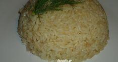 ΑΡΩΜΑΤΙΚΟ & ΣΠΥΡΩΤΟ ΠΙΛΑΦΙ   ΥΛΙΚΑ:   3 Φλυτζανια ρυζι τυπου αμερικης για πιλαφι.   ½ φλυτζανι ελαιόλαδο.  1κ.σ. γεματη φρεσκ... Easter Food, Easter Recipes, Side Dishes, Grains, Rice, Cheese, Side Plates, Laughter, Jim Rice