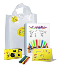 Items similar to I'm The Big Sister Gift Bag in PINK--bag full of goodies--camera/photo album/coloring book/crayons/gift tag-can be PERSONALIZED on Etsy Pack Of Crayons, Big Sister Gifts, Newborn Gifts, Sibling Gifts, Christmas Gifts For Kids, Diy Gifts, Gift Tags, Coloring Books, New Baby Products