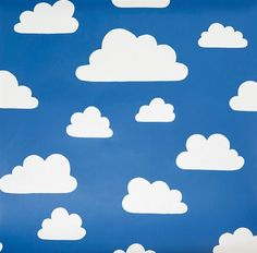 Clouds - Blue - Blue IKEA fabric with white clouds for children from Swedish Fabric Company Ikea Fabric, Buy Fabric, Printing On Fabric, Curtain Fabric, Blue Clouds, White Clouds, Cloud Fabric, Cloud Illustration, Custom Blinds