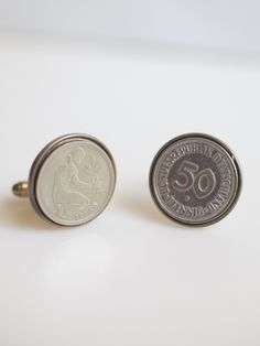 European Tokens & Icon Coin Cuff Links