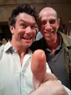 Jerry O'Connell and Miguel Ferrer...two of my Crossing Jordan loves...reunited in March of 2014. (photo via Miguel Ferrer's twitter page)