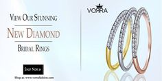Vorra fashion presenting new bridal ring collection. Use Code NY35 to save flat 35% on all jewellery Items.  www.vorrafashion.com/