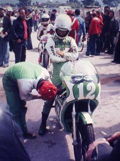 '77 WGP FRANCE GP AKIHIKO KIYOHARA ON Kawasaki KR250 !!