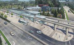 Evergreen Line Lafarge-Douglas Station
