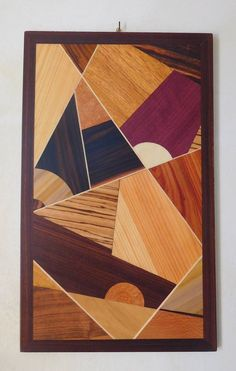 Abstract 01 di ItalianWoodMarquetry su Etsy