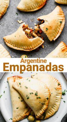 Empanadas Recipe Dough, Baked Empanadas, Empanada Dough, Homemade Empanada Recipe, Empanadas Dough For Frying, Mexican Empanadas, Mexican Dishes, Mexican Food Recipes, Veggies