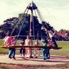 Sadly my children never got to enjoy the thrills and spills of the witches hat roundabout as health and safety banned them. I guess they were a bit dangerous.