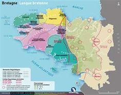 Carte de la langue bretonne