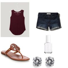 Diamonds  by lillypulitzera on Polyvore featuring polyvore, fashion, style, LOFT, Abercrombie & Fitch, Tory Burch, CZ by Kenneth Jay Lane and Essie