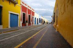 Campeche pastel buildings