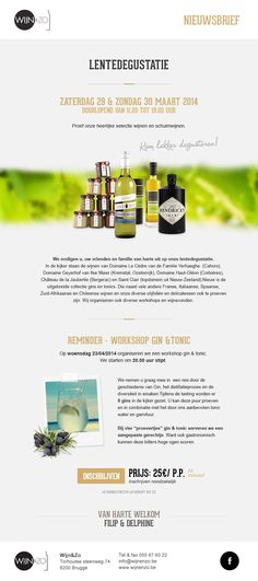 E-mail design #design by www.weblounge.be #newsletter #email #layout #wine #wineshop