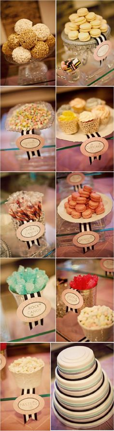 this would cute for a coco chanel, parisian or parisian circus wedding theme!!!