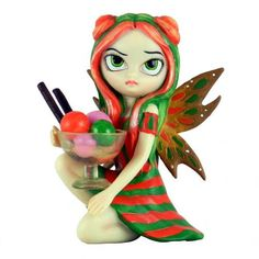 Pacific Trading Rainbow Sherbert Large Strangeling Fairy Figurine by Jasmine Becket Griffith 8821 Fairy Statues, Fairy Figurines, Collectible Figurines, Unicorn Fantasy, Fantasy Art, Jasmine, Mythical Dragons, Fairy Wallpaper, Rainbow Sherbet