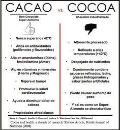 infografía cacao propiedades - Buscar con Google