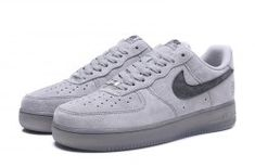 Nike Air Force1 x Reigning Champ Suede Light Grey Black Unisex Sneakers  Shoes AA1117-118 3594b272a