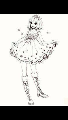 Cute girl style. Anime