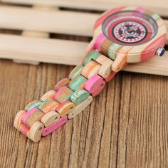 Women's Fashion Print Dial Face Colorful Bamboo Watch  wood watch womens for her ladies  Mom mum style internet unique products shops fashion band awesome accessories gift ideas beautiful girls outfit boxes pictures gifts casual For sale buy online Shopping womens Websites AuhaShop.com