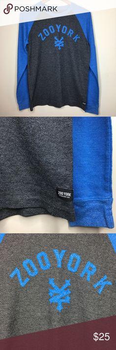 Zoo York M Medium Blue Grey T Shirt Zoo York M Medium Blue Grey T Shirt   Gently used condition as pictured   Fast shipping Zoo York Shirts Tees - Long Sleeve