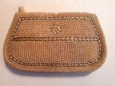 "NWOT Vintage ""A. DAVIDS""Unique Pearl Beaded Clutch/Evening Bag/ Wallet #EveningBag"