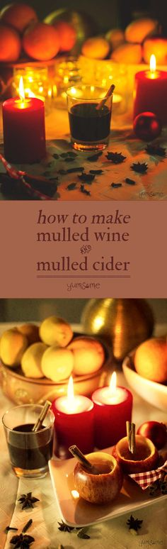 Traditional Christmas favourites across Europe, mulled wine and cider make winter so worthwhile!   yumsome.com