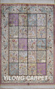 Purple Silk Carpet Rug Handmade Carpet Materials: Silk Style: Traditional Dyeing: vegetable dyeing Technology: Hand Knotted Size: 2'x3' -14'x20'  Fit for: bedroom, living room, dining area, foyer, back door, porch, office etc. … Email: alice@yilongcarpet.com  WhatsApp/Tel/Wechat: +86 156 3892 7921 #kashansilkrugs #handmadesilkrug #artdecorug