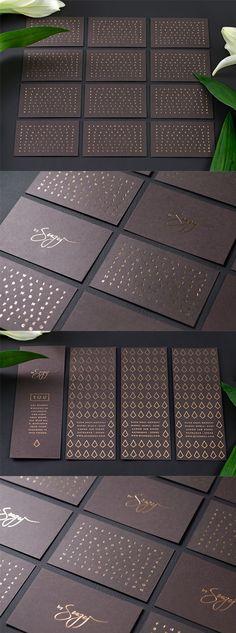 Elegant Copper Foiled Business Card Design For A Luxury Jeweller