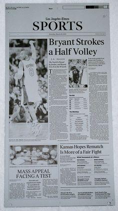 2002 KOBE BRYANT VS MICHAEL JORDAN LOS ANGELES LAKERS PRINTING PLATE #LosAngelesLakers  #NBA #Kobe #24 #BlackMamba #NBAFinals #LATIMES #LakerNation #PrintingPlate #PressPlate