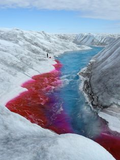 Fluorescent tracer dyes used to measure drainage system characteristics in valley glaciers, Greenland. Voleur de secrets blog