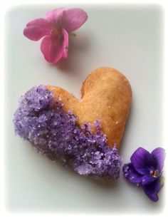 Wild Food | Magical Cookery. Violet sugared shortbread cookies