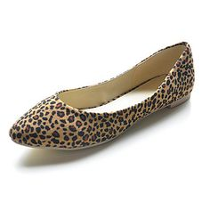 Suede Low Heel Closed Toe Animal Print Shoes (More Colors)  USD $ 29.99 |Fashion Design Shoes|